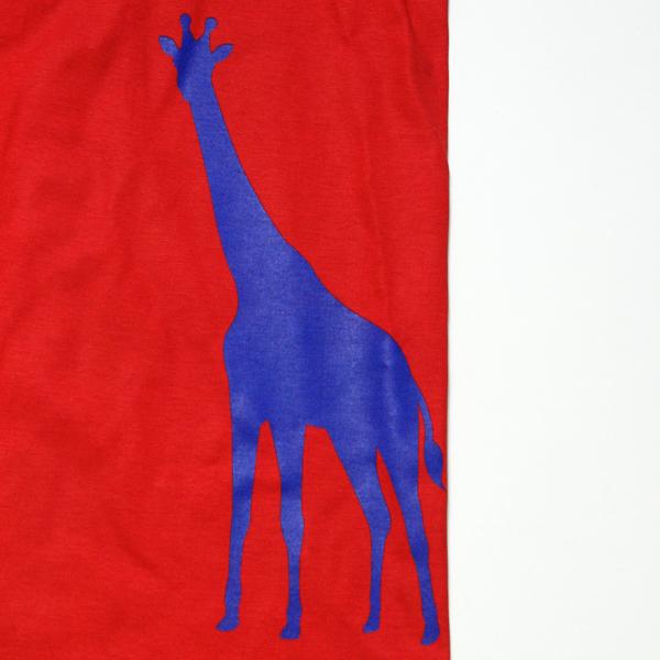 オリジナル アニマルTシャツ「キリン」」